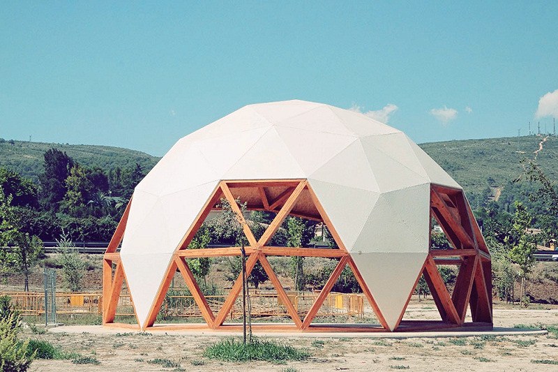 Geodesic Dome a maker faire project of 2018